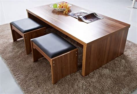 coffee table with pull out seats coffee table amusing coffee tables with stools ottoman