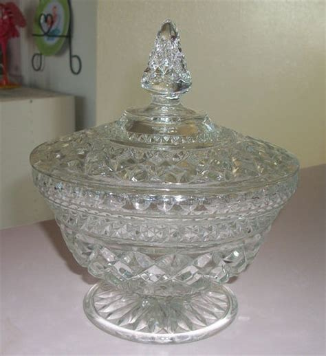 glass bowls with lids vintage anchor hocking wexford footed dish bowl with 3764