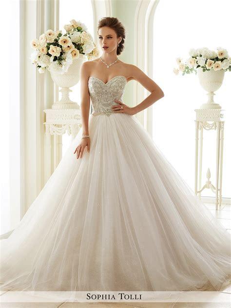 Tulle Wedding Gown   Sophia Tolli Y21663