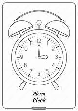 Clock Alarm Coloring Printable Pdf Drawings Drawing Coloringoo sketch template