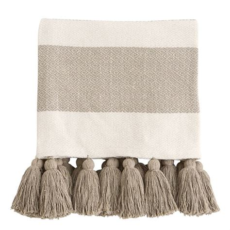 woven tassel throw blankets mud pie