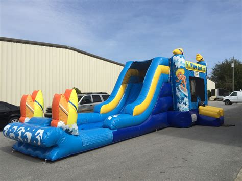 wipeout bounce house combo rental 4 all inflatables