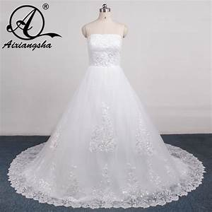 2017 new arrival retail fast ship ruffle lace long tail With how to ship a wedding dress