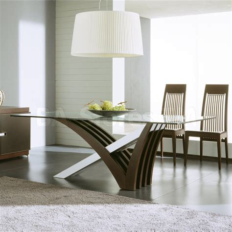 Furniture Artistic Dining Table Designs With Glass Top