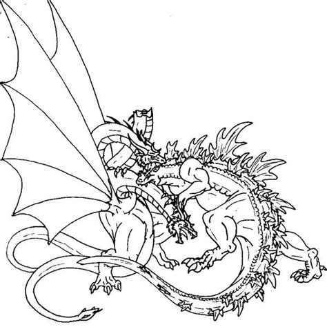 godzilla coloring pages  getcoloringscom