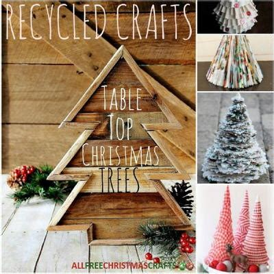 recycled crafts  table top christmas trees