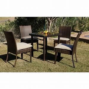 Coussins Chaises De Jardin : table de jardin marzia 80 cm et 2 chaises avec coussins beige indoor outdoor bricozor ~ Dode.kayakingforconservation.com Idées de Décoration