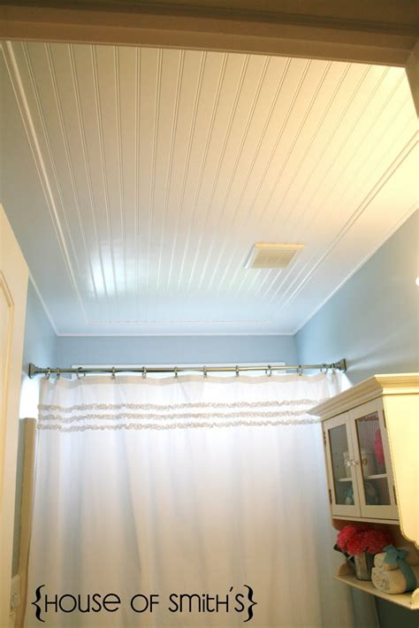 Bathroom Ceiling Ideas by Beadboard Ceiling Tutorial