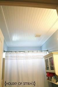 bathroom ceiling ideas Beadboard Ceiling in Bathroom