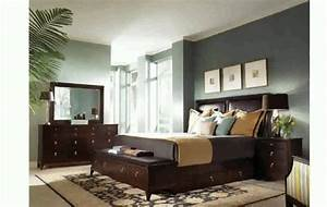 Bedroom colors with dark wood floors home delightful for Wall colors for black furniture
