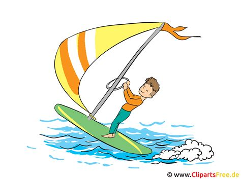 clipart windsurfing urlaub freizeit