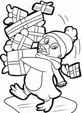 Coloring Penguin Pages Christmas Printable Sheets Drawing Printables Holiday Santa Template Getdrawings Popular Kid Getcolorings Coloringhome Books sketch template