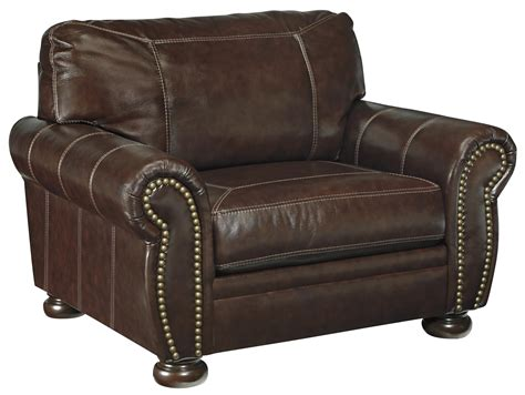 leather chair and ottoman clearance signature design by ashley banner traditional leather