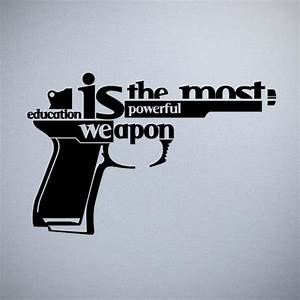 Education Is The Most Powerful Weapon Poster : 30 creative examples of typography design ~ Markanthonyermac.com Haus und Dekorationen