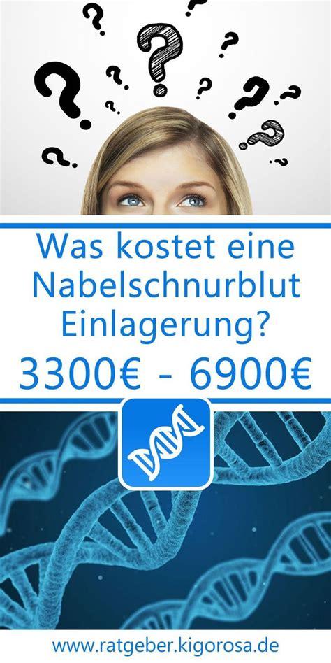 was kostet eine nabelschnurblut einlagerung in deutschland