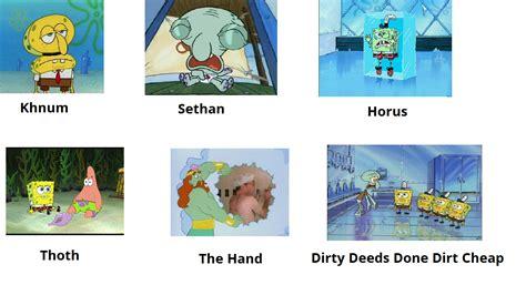 Spongebob Jojo Memes - jojo stands in a nutshell spongebob comparison charts know your meme