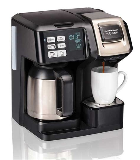 A keurig coffee maker adds style and elegance to any setting with appealing aesthetics, and much more. Hamilton Beach FlexBrew 2-Way Thermal Single-Serve Coffee Maker - Cooking Gizmos