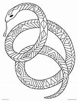 Coloring Pages Snake Adult Print Sunset Animals Tribal Printable Drawing Animal Mamba Adults Ninjago Colorings Getcolorings Coiled Sunsets Getdrawings Decorative sketch template