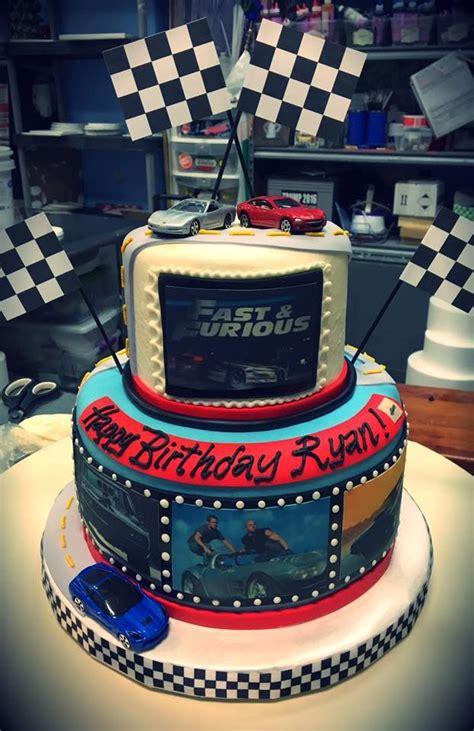 fast  furious birthday cake adrienne  bakery