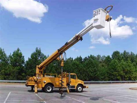 freightliner fl  bucket boom trucks