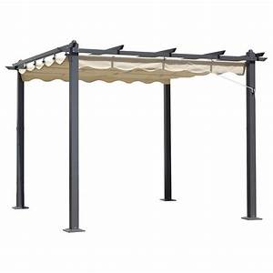 Pavillon Mit Faltdach : buy 3m x 3m beige pergola summer garden gazebo online at cherry lane ~ Whattoseeinmadrid.com Haus und Dekorationen