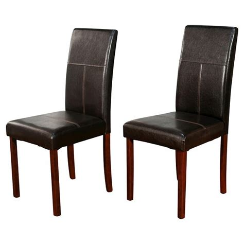 newark parson dining chair brown set of 2 tms target