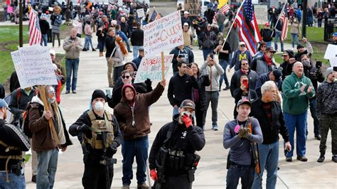 Massive Michigan Protest Opposing Governor's Stay-At-Home ...