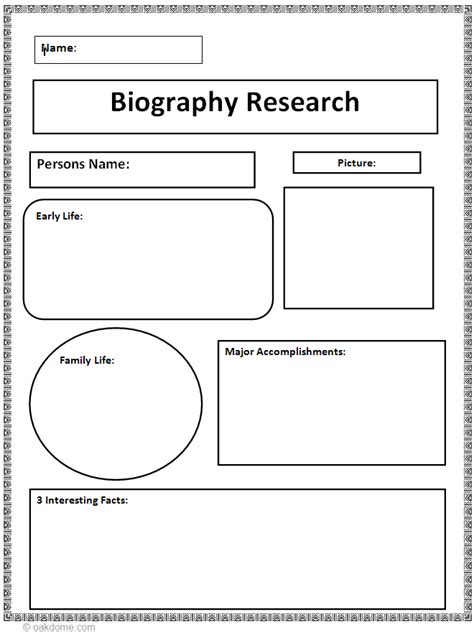 Biography Research Graphic Organizer | Teaching: Ideas for
