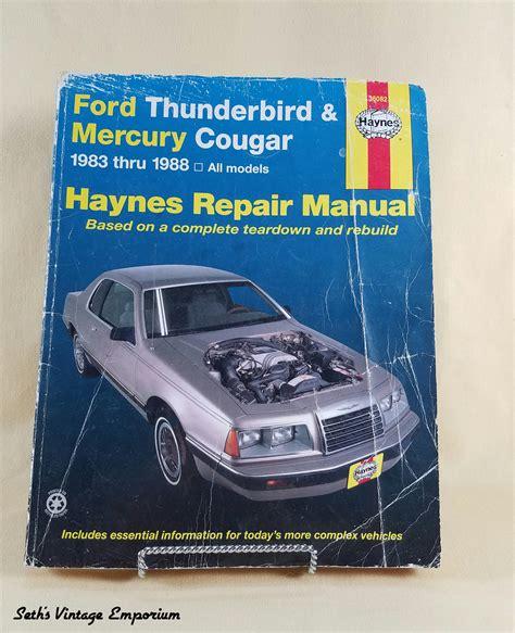 manual repair free 1983 ford thunderbird windshield wipe control haynes repair manual ford thunderbird mercury cougar