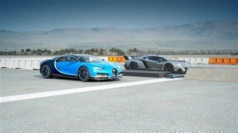 2018 Bugatti Chiron Vs Lamborghini Veneno Drag Race! Forza