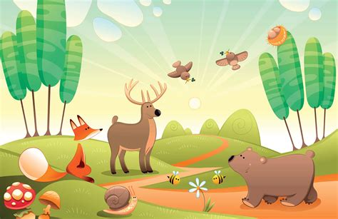Woodland Animal Wallpaper Uk - woodland animals wall mural muralswallpaper co uk