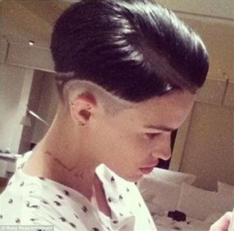 Ruby Rose Softens Her Tough Look And Army Haircut With