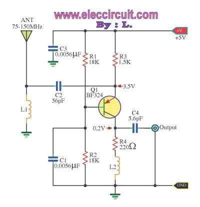 Wide Band High Frequency Amplifier Eleccircuit