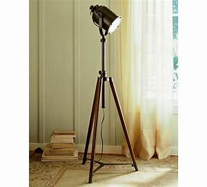 Pottery barn photographer39s tripod floor lamp copycatchic for Spotlight floor lamp pottery barn