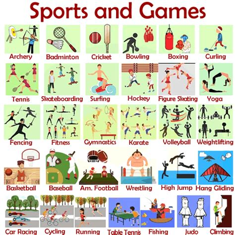vocabulary sports  games english