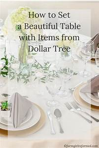 How To Set a Beautiful Table With Items From Dollar Tree