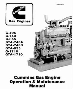 Cummins Gas Engine G-495 Operatioin Maintenance Manual