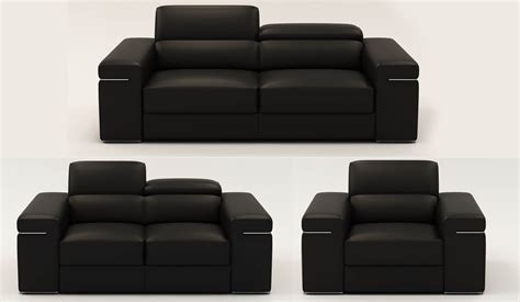 canape 2 places cuir noir deco in 1 ensemble canape 3 2 1 places en cuir noir can 3 2 1 noir