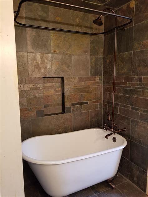 Tiling A Tub Shower by Clawfoot Bathtub And Custom Tile Gettysburg Pa
