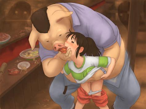 Xiin Ogino Akiichirou Ogino Chihiro Sen To Chihiro No Kamikakushi Studio Ghibli 00s 1girl