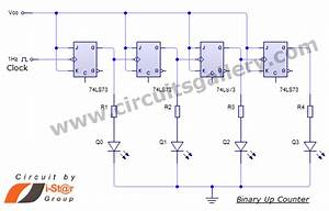Binary Up Counter Circuit With Working Animation And