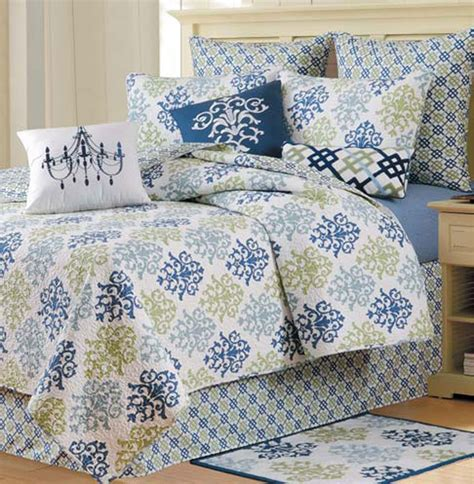 shabby chic blue quilt shabby chic blue by c f quilts beddingsuperstore com