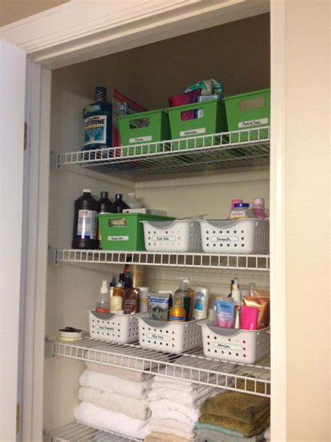 bathroom closet organization tips organized for