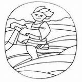 Jet Skiing Boy Smiling Coloring Sheet Water Freecoloringsheets sketch template