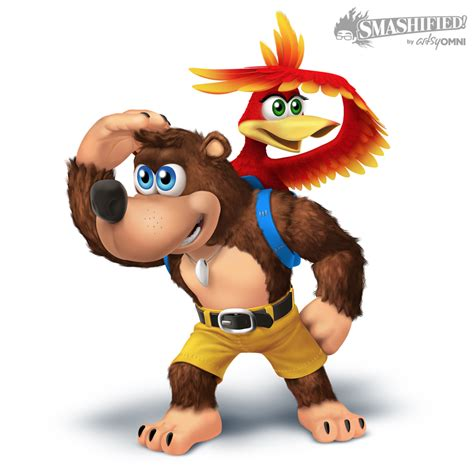 banjo and kazooie smashified transparent by