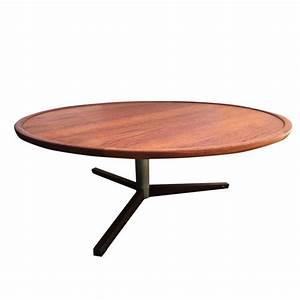 Table Ronde En Teck : table basse vintage ronde en teck 1960 design market ~ Teatrodelosmanantiales.com Idées de Décoration
