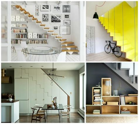 rangement sous escalier  idees  solutions creatives