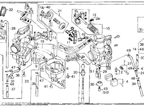 honda xl600r 1986 g usa parts lists and schematics