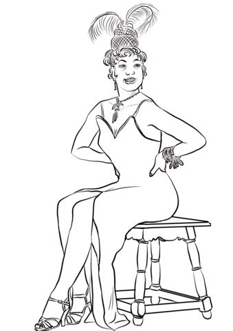 josephine baker coloring page  printable coloring pages