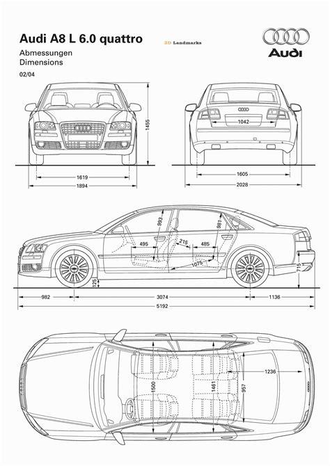 automobile blueprints | car blueprints audi audi a8 2004
